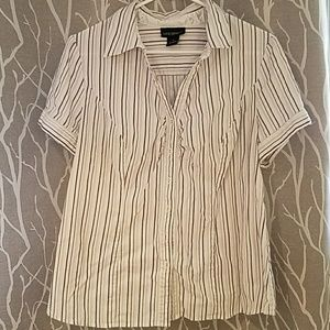 Lane Bryant Plus Size Striped Button up Shirt